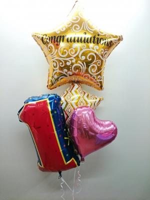 一周年お祝いバルーン  バルーンアートお祝い