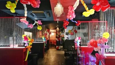 ホストクラブ バルーン装飾