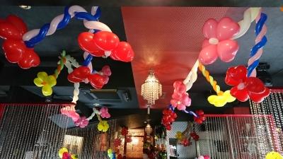 店内バルーン装飾 ホストクラブ バルーン装飾