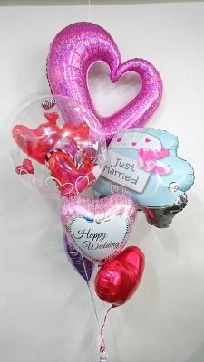 ウエディングバルーン バルーンブーケ 結婚式受付飾り バルーン