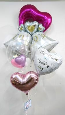 ウエディングバルーン  結婚式バルーン  受付飾りバルーン