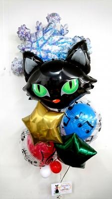 お祝いバルーン 猫バルーン コンサートバルーン 音符バルーン