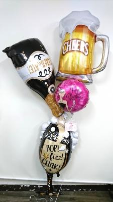 バースデーバルーン  シャンパンバルーン お誕生日バルーン