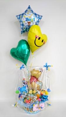 出産祝いバルーン おむつケーキバルーン