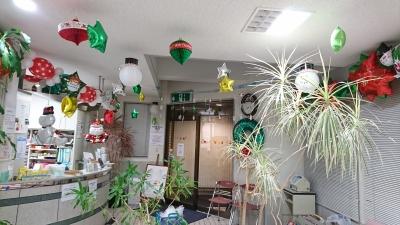 院内クリスマスバルーン装飾