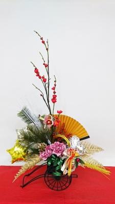 お正月飾り 床の間飾り バルーン お花 生け花バルーン バルーンアレンジ 正月アレンジ
