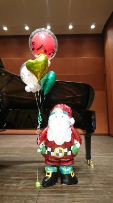クリスマス バルーン ピアノ発表会 発表会バルーン装飾