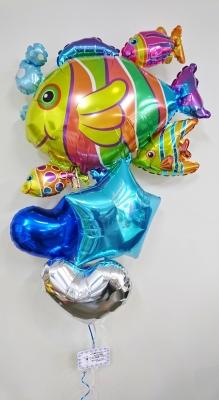 新体操発表会バルーン バルーン発表会 バルーンプレゼント トロピカルフィッシュバルーン バルーン魚
