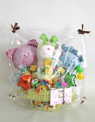 オムツケーキ 赤ちゃんとおむつケーキ ベイビーとおむつケーキ 出産のお祝い おむつバルーン