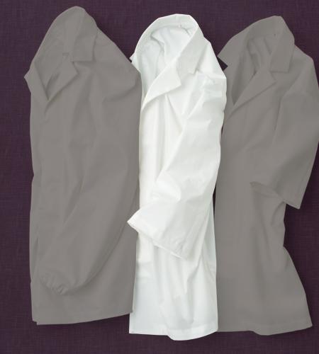 ワッフル白衣七分袖