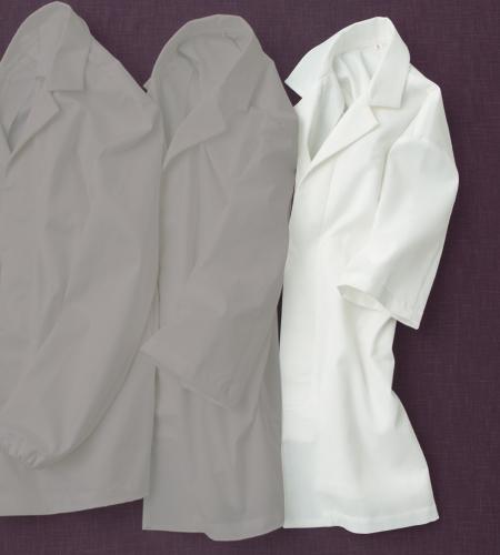 ワッフル白衣半袖