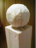 木の球-斜めから見た図