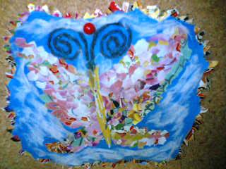 貼り絵の蝶