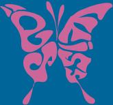 蝶にデザインしたロゴ