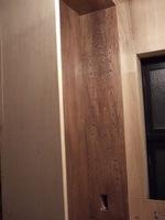 洗面台の棚内部に設置したコンセント・・・になるところ