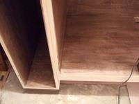 洗面台収納部、塗装