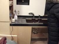 洗面台カウンターの石が取り付けられました