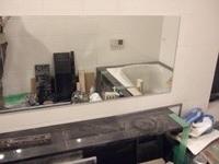 浴室内の鏡も設置