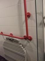 浴室にも既存の手すりを再利用