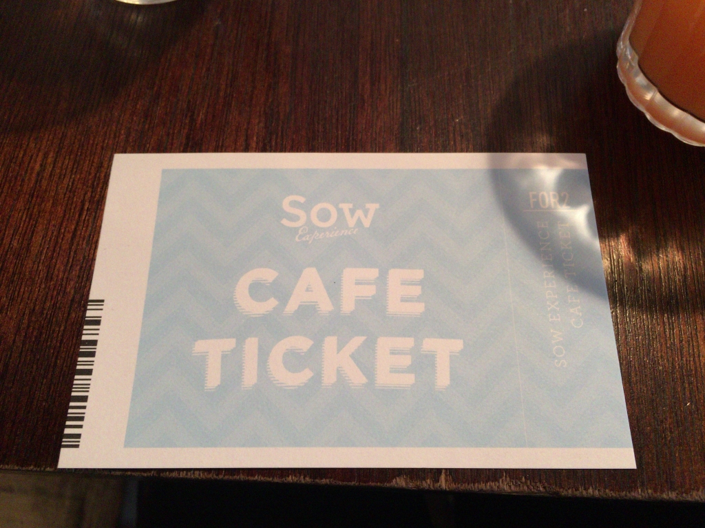 CAFE TICKET