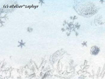 小宇宙のかけら展示作品一部分 雪の結晶
