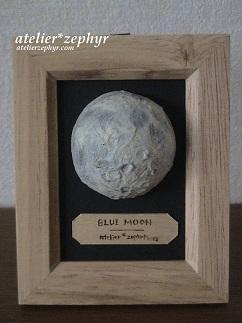 天体観測展出展作品 半立体光る月