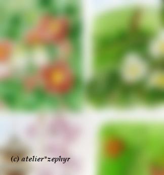 京都アートみやげてん atelier*zephy作品制作途中