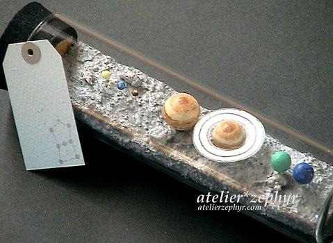 atelier*zephyr天体観測展 太陽系のグリーティングボトル