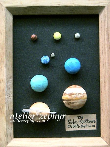 天体観測展atelier*zephyr 太陽系標本