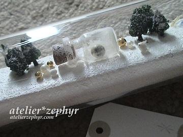 atelier*zephyr グリーティング試験管ボトル 月と雪景色