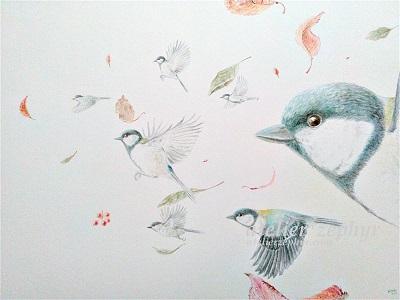 atelier*zephyr 鳥の水彩作品