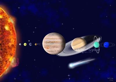 太陽系 デジタルイラスト
