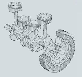 ハイブリッドエンジン