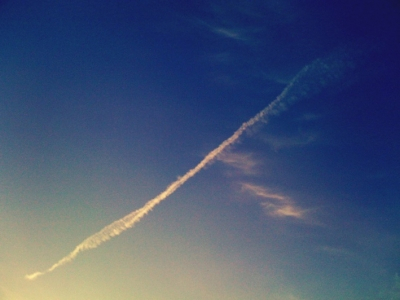 飛行機雲 ときどき*カメラ