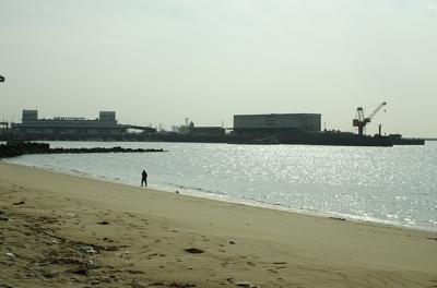 浜辺を散歩する人 ときどき*カメラ