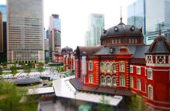 potoshop ミニチュア 東京駅