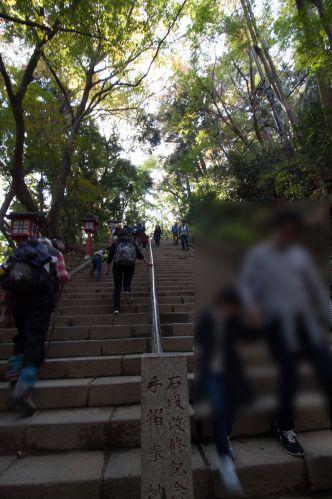 高尾山 一眼レフ 階段