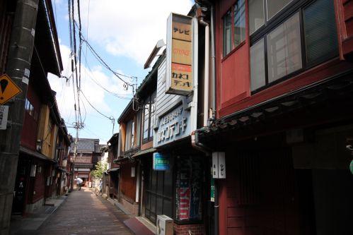 金沢 東茶屋 路地裏