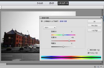photoshop elements 2トーン