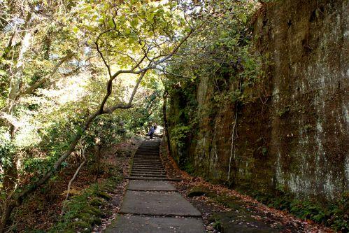 鋸山 階段