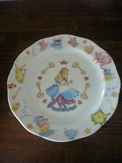 お気に入りのアリスのお皿