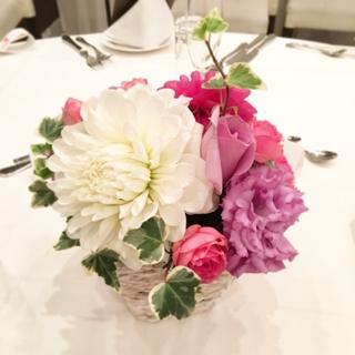 ブライダル 花 結婚式 高砂 ゲスト卓 上品
