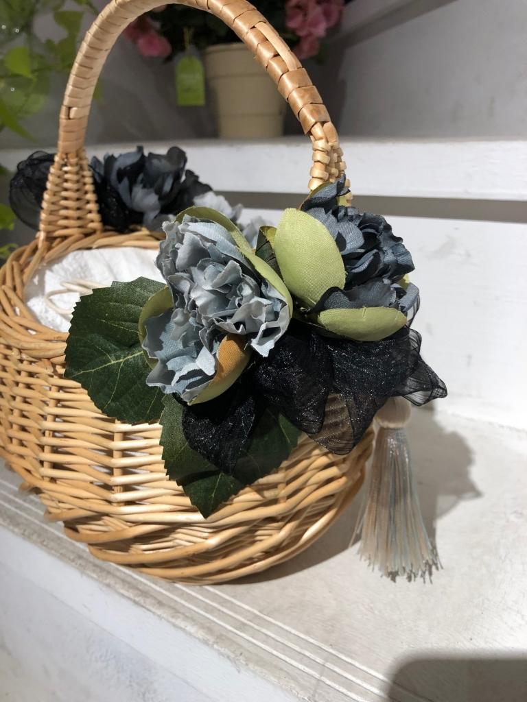 AtelierK アトリエK 花束 アレンジメント 淀屋橋 北浜 花屋 かごバック 手作り