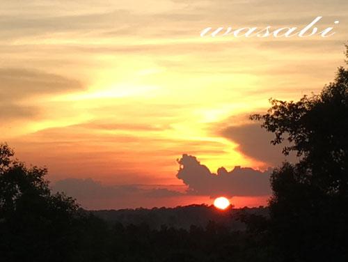 アンコールワット 夕日 サンセット