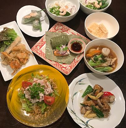 ベトナム料理スアン コース料理の内容が変更しました!