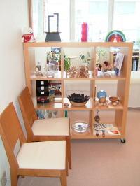 茅ヶ崎市の整体院 ちがさき整体クリィニクの待合室の写真