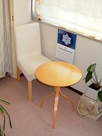 問診・カウンセリング用のテーブルです。