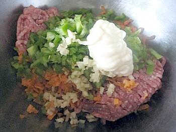 野菜入りハンバーグ4