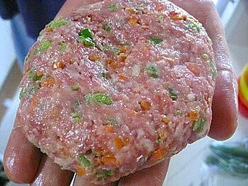 野菜入りハンバーグ6