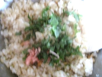 小松菜玄米おにぎり鮭2
